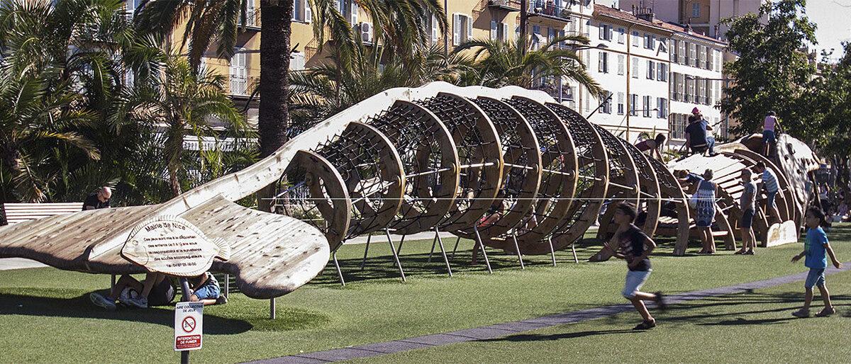 Permalänk till:Lekpark i Nice på Promenade du Paillon